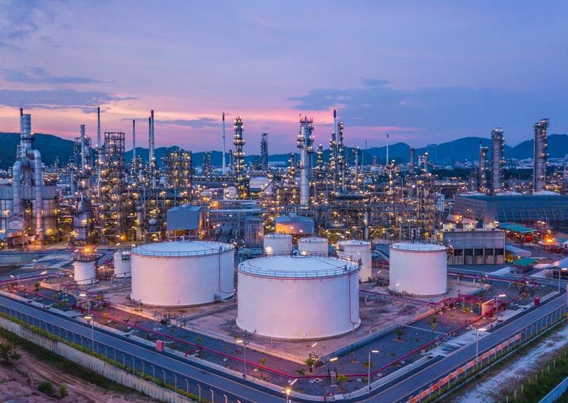 Planta refinería petróleo